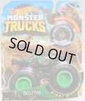 2018 HW MONSTER TRUCKS! 【SKELETON CREW HOT WHEELS】 BLACKGREEN (includes COLLECTABLE WHEEL!)