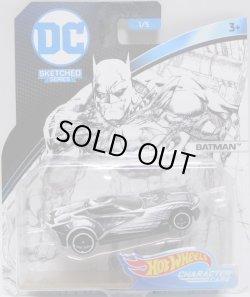 """画像1: 2018 ENTERTAINMENT CHARACTERS """"DC COMICS""""【""""SKETCHED"""" BATMAN】 WHITE-BLACK/O5 (予約不可)"""