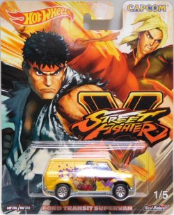 "画像1: 2018 POP CULTURE - ""STREET FIGHTER "" 【FORD TRANSIT SUPERVAN】 YELLOW/RR (予約不可)"
