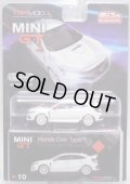 "2018 TSM MODELS - MINI GT ""MIJO EXCLUSIVE"" 【HONDA CIVIC TYPE-R (左ハンドル仕様)】 WHITE/RR (4800個限定)(予約不可)"