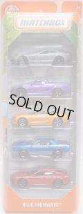 2019 MATCHBOX 5PACK 【BLUE HIGHWAYS】Mercedes-Benz SLR McLaren/'08 Holden VE Ute SSV/'16 Chevy Camaro Convertible/'70 Plymouth Cuda/Porsche Panamera