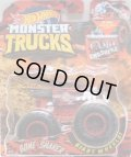 """2019 HW MONSTER TRUCKS! """"CAMO CRASHERS""""【BONE SHAKER】 FLAT RED CAMO (includes COLLECTABLE FLAGL!)"""