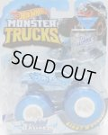 """2019 HW MONSTER TRUCKS! """"BLIZZARD BASHERS""""【TOWN HAULER】 ICE BLUE (includes COLLECTABLE FLAGL!)"""