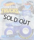 """2019 HW MONSTER TRUCKS! """"BLIZZARD BASHERS""""【TORQUE TERROR】 BLUE (includes COLLECTABLE FLAGL!)"""