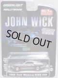 """2019 GREENLIGHT """"HOLLYWOOD"""" MIJO EXCLUSIVE CHROME EDITION 【""""JOHN WICK"""" 1969 FORD MUSTANG BOSS 429】BLACK CHROME/RR"""