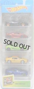 2019 5PACK 【HW EXOTICS】'17 Pagani Huayra Roadster / Lamborghini Sesto Elemento / Lamborghini Gallardo LP 570-4 Superleggera / Lotus Esprit S1 / Aston Martin V8 Vantage