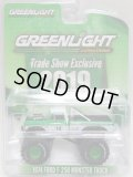 """2019 GREENLIGHT """"TRADE SHOW EXCLUSIVE"""" 【1974 FORD F-250 MONSTER TRUCK】 GREEN-WHITE/RR"""