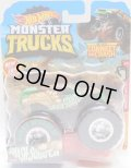 2019 HW MONSTER TRUCKS! 【SMASH-SQUATCH】 GREEN (includes CONNECT AND CRASH CAR)