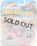 2019 HW MONSTER TRUCKS! 【HOT WHEELS BONE SHAKER】 FLAT BLACK (includes CONNECT AND CRASH CAR)