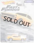 2019 HW PREMIUM  FAST & FURIOUS 【'67 CHEVROLET CAMARO】ORANGE/RR (予約不可)