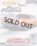 2019 HW PREMIUM  FAST & FURIOUS 【1970 CHEVROLET CHEVELLE SS】RED/RR (NEW CAST)(予約不可)