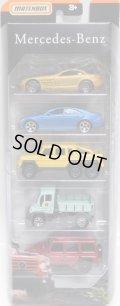 2019 MATCHBOX 5PACK 【MERCEDES-BENZ】Mercedes-Benz SLR McLaren/CLS500/G63 AMG 6x6/Unimog U300/'14 Mercedes-Benz G-Class G 550