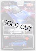 "2019 TSM MODELS - MINI GT 【""MIJO EXCLUSIVE"" HONDA CIVIC TYPE R ""AEGEAN BLUE MODULO EDITION"" (左ハンドル仕様)】 ZAMAC/RR(CHASE) (予約不可)"
