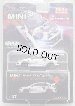 """画像1: 2019 TSM MODELS - MINI GT 【""""MIJO EXCLUSIVE"""" HONDA CIVIC TYPE R """"ARTCAR MANGA 2018 PARIS AUTO SHOW"""" (左ハンドル仕様)】 WHITE/RR (予約不可)"""