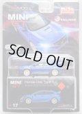 "2019 TSM MODELS - MINI GT 【""MIJO EXCLUSIVE"" HONDA CIVIC TYPE R ""AEGEAN BLUE MODULO EDITION"" (左ハンドル仕様)】 BLUE/RR (予約不可)"