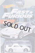 2019 WALMART EXCLUSIVE HW FAST & FURIOUS (ワイルドスピード)【'95 MAZDA RX-7】WHITE/5SP(予約不可)