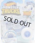 """2020 HW MONSTER TRUCKS! """"BLIZZARD BASHERS""""【ABYSS-MAL (DAIRY DELIVERY)】 BLUE (includes CONNECT and CRASH)"""