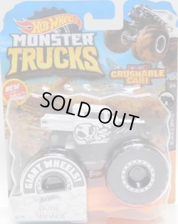 画像1: 2020 HW MONSTER TRUCKS! 【BONE SHAKER】 FLAT WHITE-BLACK(includes CRUSHABLE CAR)(予約不可)