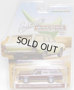 画像1: 2020 GREENLIGHT ESTATE WAGON S4 【1980 MERCURY GRAND MARQUIS COLONY PARK】 BROWN-WOOD/RR