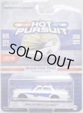 2020 GREENLIGHT HOT PURSUIT S33 【1986 CHEVROLET CAPRICE】 WHITE/RR (INDIANA STATE POLICE)(GREEN MACHINE)