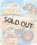 2020 HW MONSTER TRUCKS! 【ALL FRIED UP】 YELLOW (includes CRUSHABLE CAR)(NEW FOR 2020)