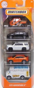 2020 MATCHBOX 5PACK 【CITY ADVENTURE II】Meter Made/'17 Honda Civic Hatchback/'15 Cadillac Escalade/'15 Mercedes-Benz GLE Coupe/Chow Mobile (予約不可)