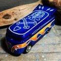 "HELLS DEPT 2020 - BOO Pinstriping x JDC13 【""グラデ-ション"" VW DRAG BUS (カスタム完成品)】DK.BLUE-BLUE(SKULL)/RR (送料サービス適用外)"