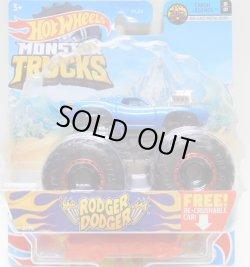 画像1: 2021 HW MONSTER TRUCKS! 【RODGER DODGER】 BLUE (includes RE-CRUSHABLE CAR)(予約不可)