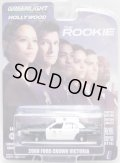 2021 GREENLIGHT HOLLYWOOD SERIES 30 【2008 FORD CROWN VICTORIA】 BLACK-WHITE/RR (THE ROOKIE)