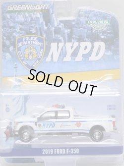 """画像1: 2020 GREENLIGHT HOBBY EXCLUSIVE 【""""NYPD"""" 2019 FORD F-350】 WHITE/RR"""