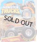 2018 HW MONSTER TRUCKS! 【HOT WHEELS RACING】 RACE TEAM RED (includes COLLECTABLE WHEEL!)