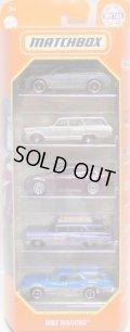 2021 MATCHBOX 5PACK 【MBX WAGONS】Audi RS6 Avant/'64 Ford Fairlane Wagon/Cadillac CTS Wagon/'59 Chevy Wagon/Oldsmobile Vista Cruiser