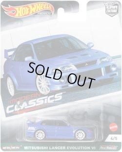 """画像1: 【仮予約】PRE-ORDER - 2021 HW CAR CULTURE """"MODERN CLASSICS"""" 【MITSUBISHI LANCER EVOLUTION VI】BLUE/RR(11月上旬入荷予定)"""