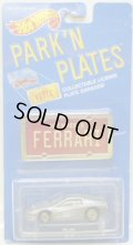PARK'N PLATES 【FERRARI TESTAROSSA (2048)】 SILVER/UH (TAN INTERIOR) (RED PLATE)
