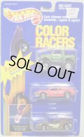 COLOR RACERS 3-PACKS 【STREET ROADER, BMW M1, FLAME RUNNER】