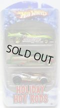 2010 HOLIDAY HOT RODS 3PACK 【'78 CORVETTE FUNNY CAR/PURPLE PASSION WOODIE/CUL8R】 TARGET EXCLUSIVE