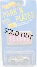 PARK'N PLATES 【FERRARI TESTAROSSA (2048)】 SILVER/UH (TAN INTERIOR) (PINK PLATE)