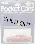 TOMY POCKET CARS 【NISSAN BLUEBIRD TURBO】 RED (USトミカ)