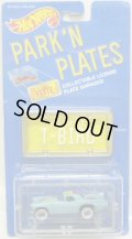 PARK'N PLATES 【'57 T-BIRD (2072)】 TURQUOISE/WW  (YELLOW PLATE)