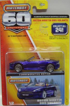 Matchbox 60th Anniversary Aston Martin DBS Volante Commemorative Edition #12