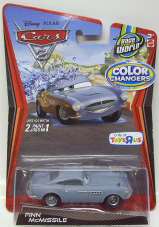 Disney Cars 2 Color Changers 【finn Mcmissile】 Toys R Us